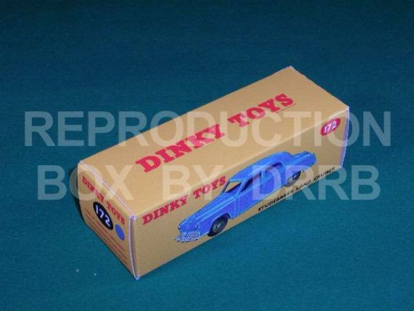 Dinky #172 Studebaker Land Cruiser - Reproduction Box ( Blue )